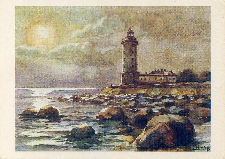 the original light a wooden tower was ordered by peter the great the present tower the oldest active lighthouse in russia was designed by