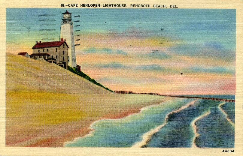 Lighthouses of the us delaware huelse has a historic postcard view sciox Choice Image